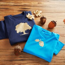 Fall Dad and Me Oak Tree T-Shirt Set, medium