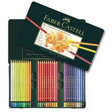 Faber-Castell Polychromos Color Pencils Tin Set, 60