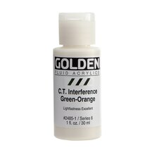 Golden Fluid Interference Acrylic 1oz. Green-Orange