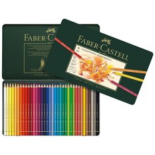 Faber-Castell Polychromos Color Pencils Tin Set, 36