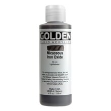 Golden Iridescent Fluid Acrylics 4oz. Micaceous Iron Oxide