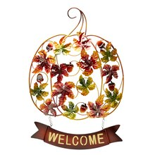 Metal Leaf Welcome Sign By Ashland