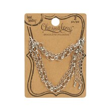 Charmalong Rhodium Roll Chain Bracelets By Bead Landing