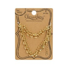 Charmalong Gold Roll Chain Bracelets By Bead Landing