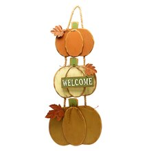 Triple Pumpkin Welcome Sign By Ashland