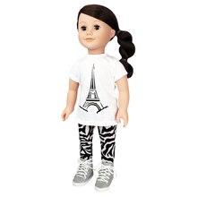Eiffel Tower Doll T-Shirt & Leggings Set By Creatology