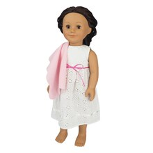 White Doll Nightgown with Blanket By Creatology
