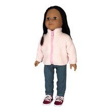 Doll Pink Fleece Jacket By Creatology