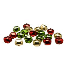 Red, Green & Gold Colored Bells By Celebrate It Contents