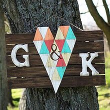 Rustic Wedding Pallet Sign, medium