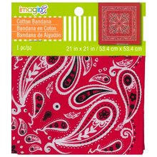 Paisley Bandana by Imagin8, Red