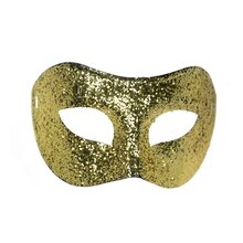 Gold Glitter Half Mask By ArtMinds