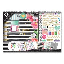 Create 365 The Happy Planner 12 Month Box Kit, Best Year Ever/Stripes