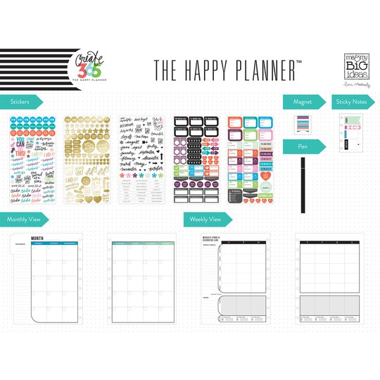 Create 365 the happy planner 12 month box kit fitness for Create planner online