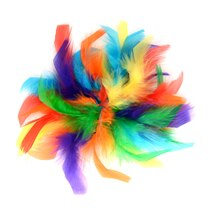 Rainbow Chandelle Feather Clip By Creatology