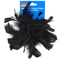 Black Chandelle Feather Clip By ArtMinds