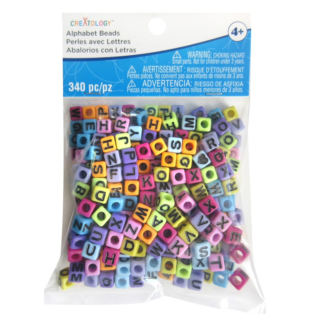 Find the bright alphabet cube beads by creatology at michaels for Michaels crafts jewelry supplies