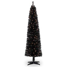 Pre-Lit Shiny Black Christmas Tree By Celebrate It
