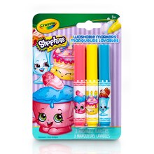 Crayola Shopkins Pip-Squeaks Washable Markers, Cupcake Chic