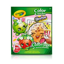 Crayola Shopkins Color & Sticker Book Front View