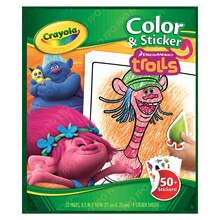 Crayola Color & Sticker Book, Trolls