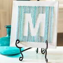 Free Yarn Class: Yarn Letter Canvas, medium
