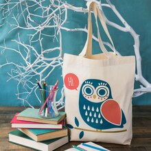 Owl Iron-On Tote Bag, medium