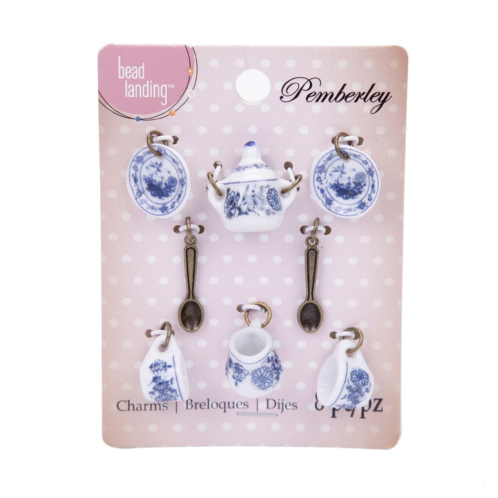 Shop for the pemberley multicolored tea set charms by bead landing pemberley blue tea set charms by bead landing mozeypictures Image collections