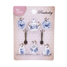 Enter alternate text herePemberley Blue Tea Set Charms By Bead Landing
