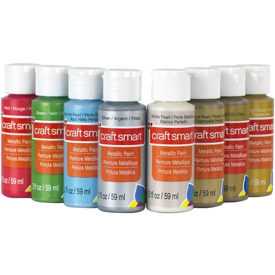Find the metallic acrylic paint value set by craft smart for Can you paint candles with acrylic paint