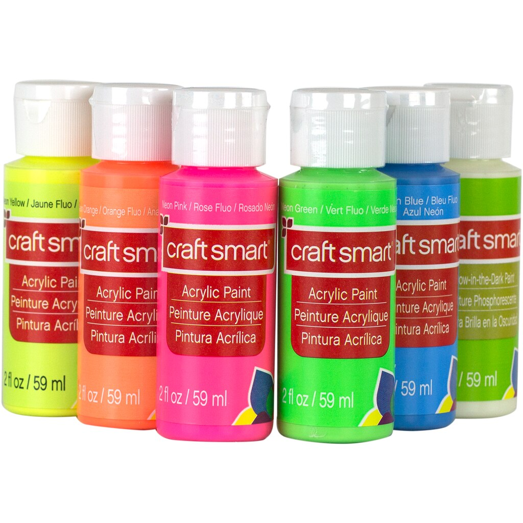 buy the neon glow acrylic paint value set by craft smart