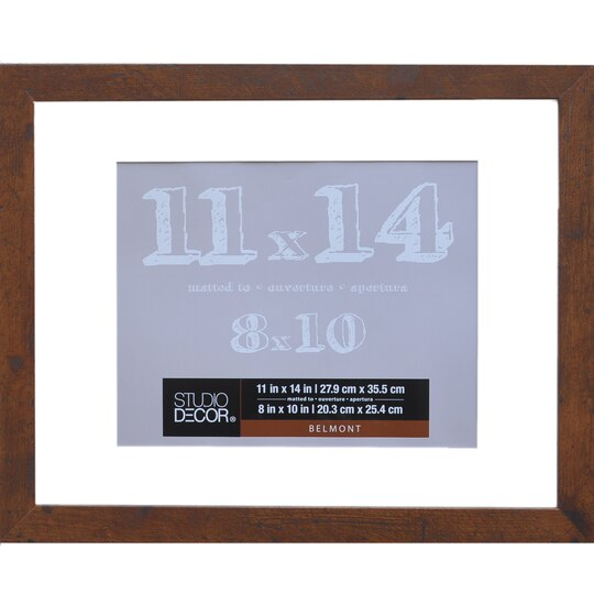shop for the honey belmont frame with mat by studio dcor at michaels - Michaels 12x12 Frame