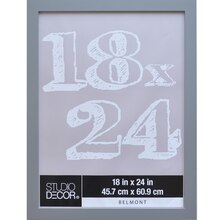 """Belmont Pewter Wall Frame By Studio Décor, 18"""" x 24"""""""