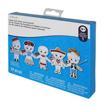 Kids World Paper Doll Chain Coloring Kit By Creatology
