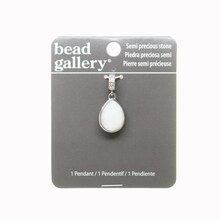 Bead Gallery Silver Drop-Shaped Stone Pendant