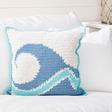 Bernat® Maker Home Dec™ Catch a Wave Crochet Pillow, medium