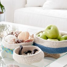 Bernat® Maker Home Dec™ Crochet Nesting Bowls, medium