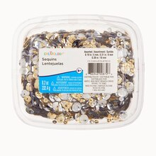 Silver & Gold Metallic Round Sequins Tub By Creatology