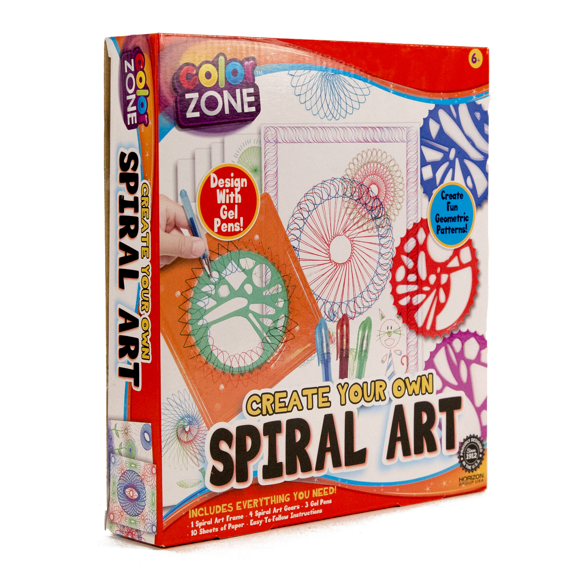 color zone spiral art kit package