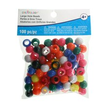 Multicolor Large Hole Opaque Beads By Creatology