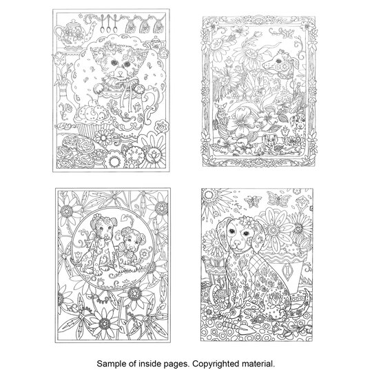 Creative HavenR Dazzling Dogs Coloring Book