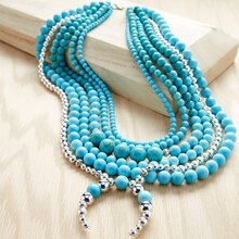 Turquoise Squash Blossom Necklace, medium