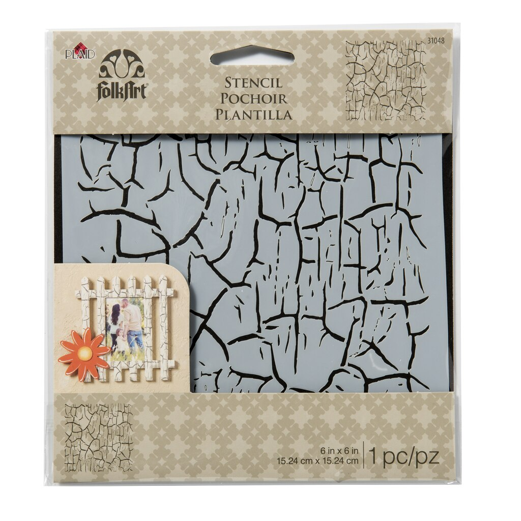 Shop for the folkart laser cut small stencil crackle at michaels view all amipublicfo Image collections