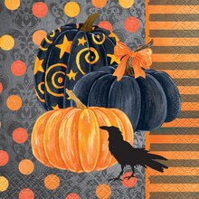 Painted Pumpkin Halloween Beverage Napkins, 24ct