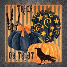 Painted Pumpkin Halloween Luncheon Napkins, 24ct