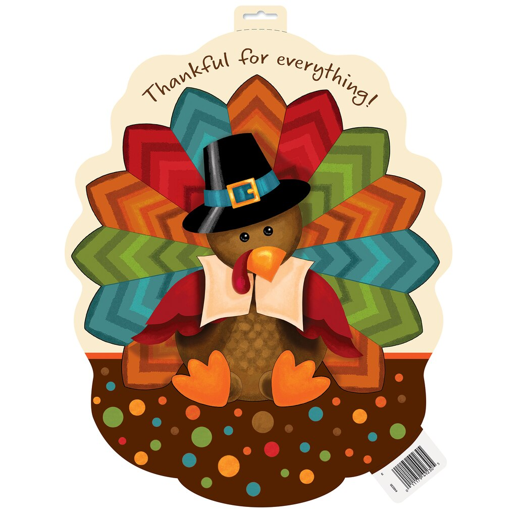 Cute Turkey Thanksgiving Cutout Decorations Thanksgiving