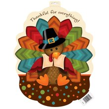 Paper Cutout Cute Turkey Thanksgiving Decoration, 16.5""