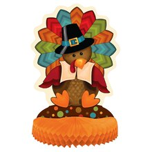 Cute Turkey Thanksgiving Centerpiece Decoration, 14""