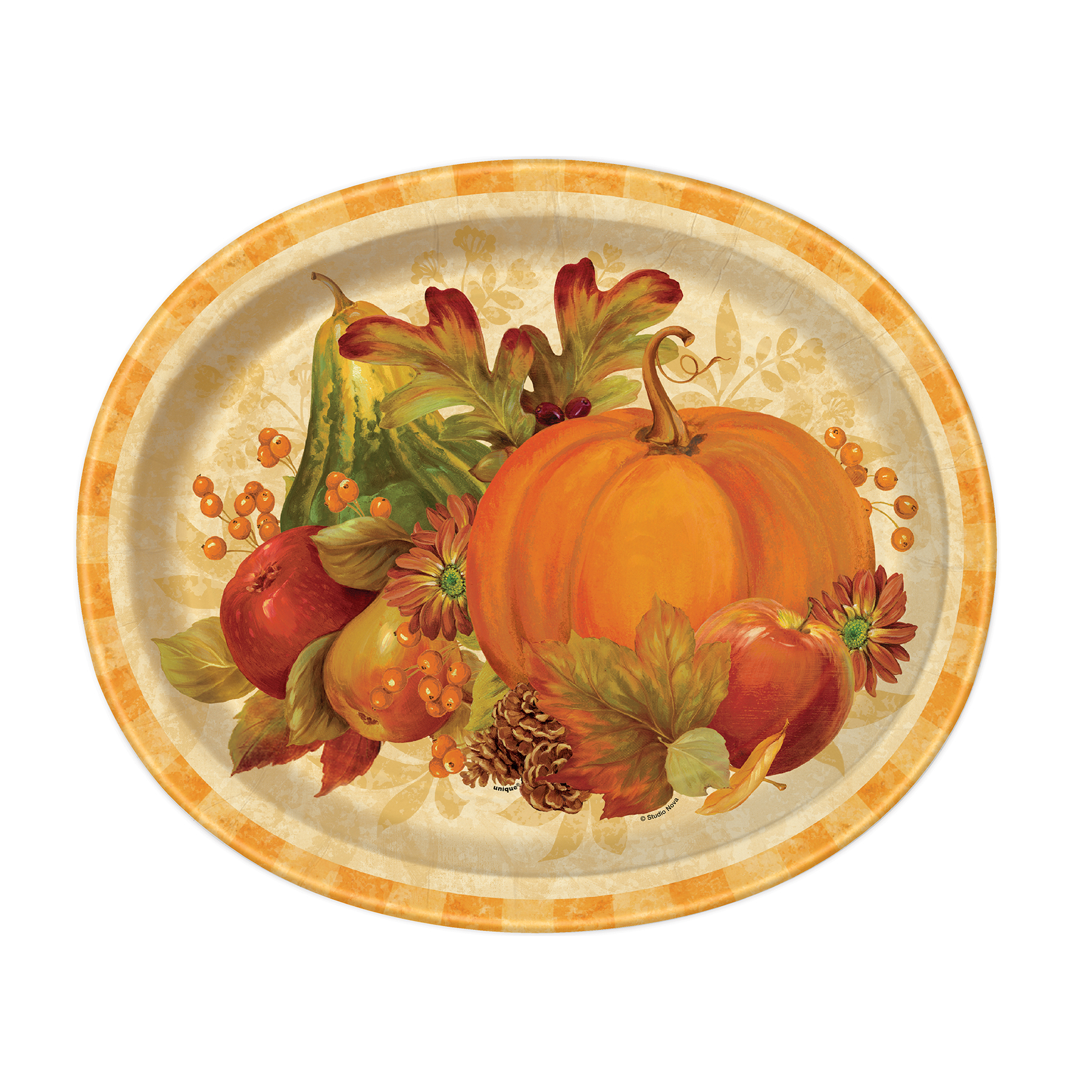 Oval Pumpkin Harvest Fall Dinner Plates 8ct  sc 1 st  Michaels Stores & Pumpkin Harvest Fall Oval Paper Plates | Fall Party Supplies