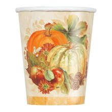 9oz Pumpkin Harvest Fall Paper Cups, 8ct